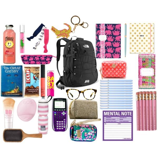 """""""What I Wish was in my Bookbag"""" by sweetprep101 on Polyvore"""