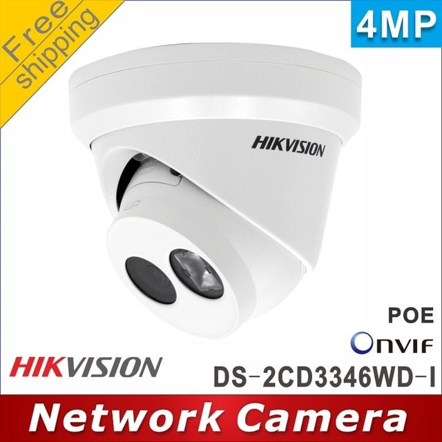 Free Shipping Hikvision 4mp Ds 2cd3346wd I Replaced Ds 2cd2345fwd I Array 30m Ip Ca Alarm Systems For Home Wireless Home Security Systems Home Security Systems