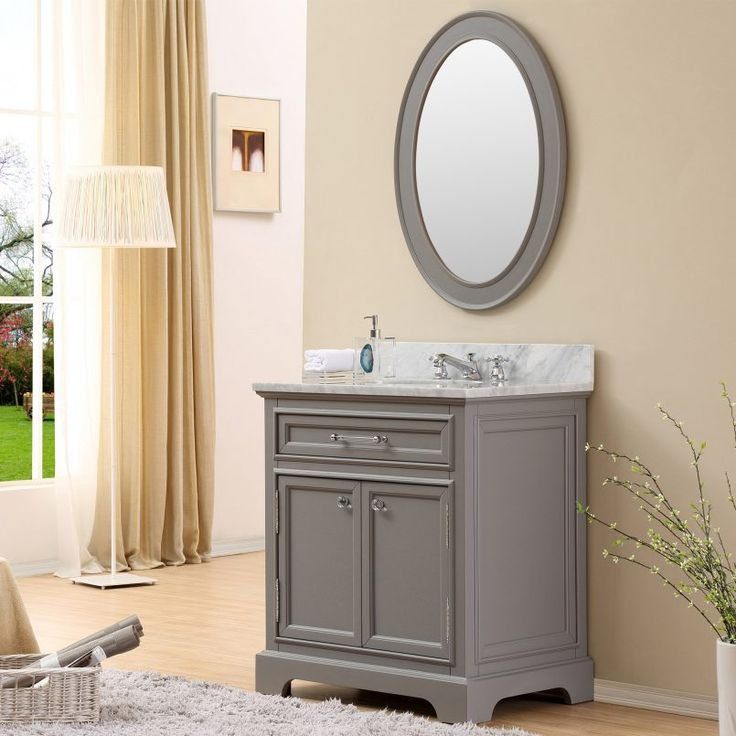 Make Photo Gallery Derby Cashmere Grey Single Sink Bathroom Vanity Only