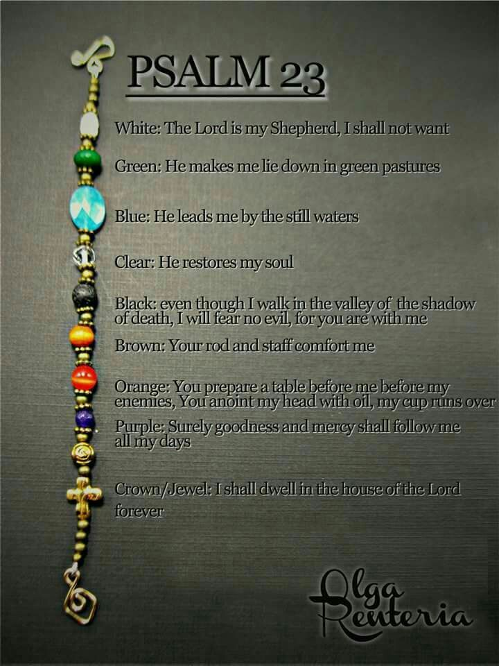 Psalm 23 bracelet with meaning of it