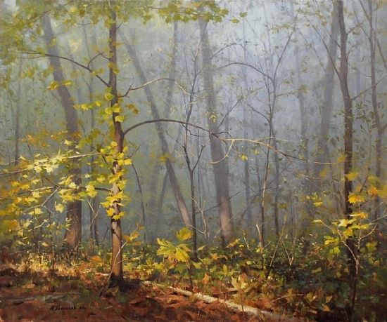Foggy Top by Marc Hanson Oil ~ 30 x 36 -repinned by http://LinusGallery.com #art #artists #contemporaryart