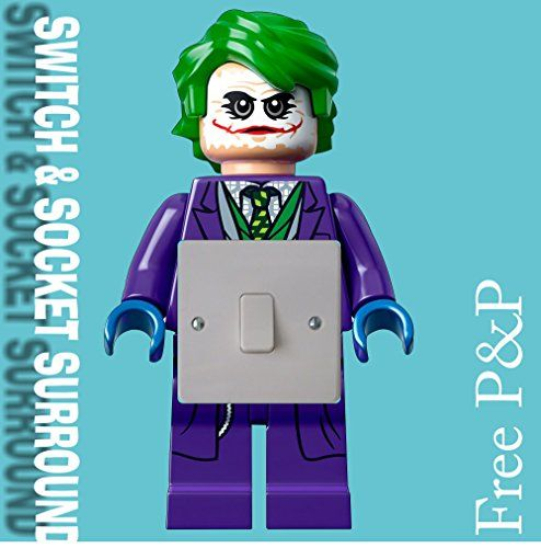 From 2.49:Lego Joker Batman Sticker Light Switch Plug Surround Bedroom Wall Art Boy Girl