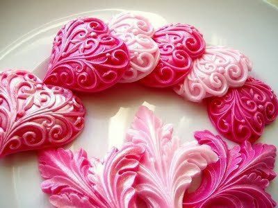 stunning!  Can't find a source or WHAT they are, but would translate to clay or cookies equally as well!
