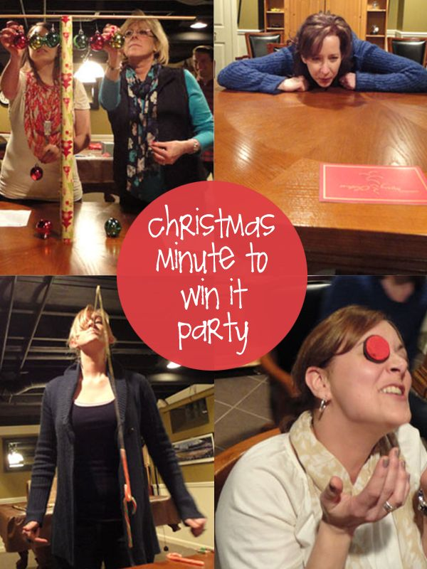 Christmas Minute To Win It Party Christmas Pinterest