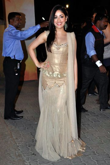 Yami Gautam in a beautiful design by Tarun Tahiliani via IndianWeddingSite.com