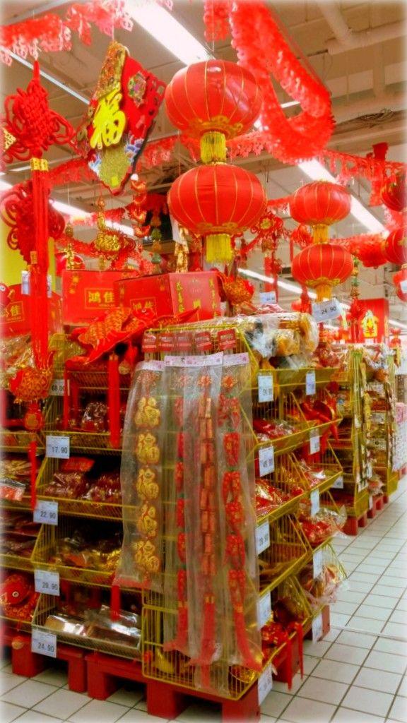 buy #chinese new year #decoration at the supermarket - #red lanterns #china #chengdu #qingdao #zhuhai #intern #internship
