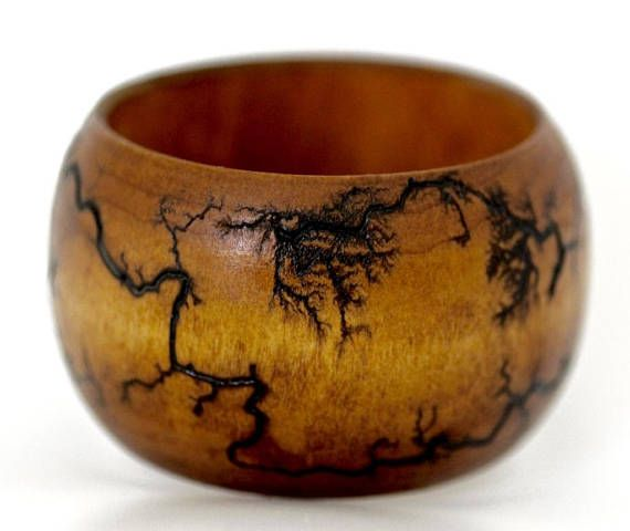 Wood Bangle   Etched Wood Bracelet  Modern Everyday Jewelry