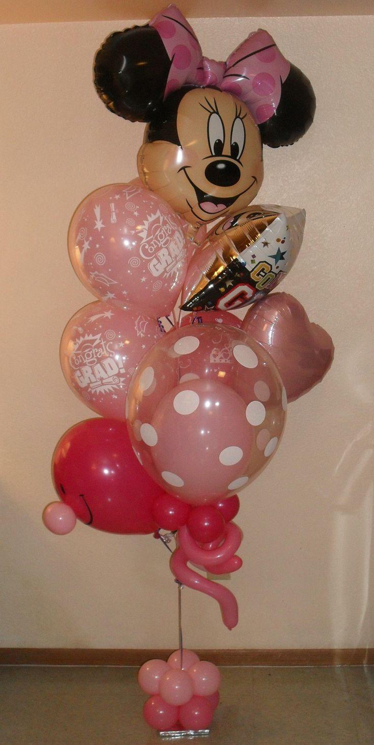 Happy graduation Minnie balloon bouquet small 83