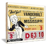 Ole Miss football ticket art. Christmas football gifts! http://www.christmasfootballgifts.com/ Best Christmas football gifts! #47straight #Christmasgifts #gifts