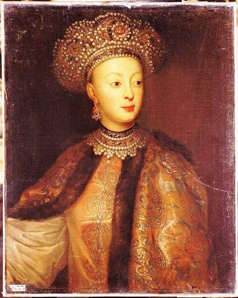 Царевна Софья Алексеевна (1657 – 1704), 4-я дочь царя Алексея Михайловича (1629 – 1676) от Марьи Ильиничны Милославской (1624 – 1669), 1-ой супруги его. Правительница России в 1682 – 1689 при малолетних братьях – царях Иоанне и Петре