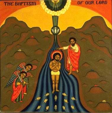 Image result for john the baptist baptizing jesus african art