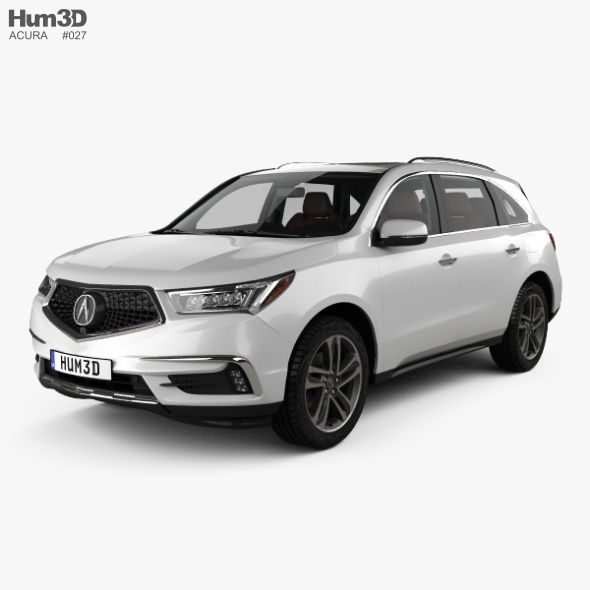 Acura MDX Sport Hybrid With HQ Interior 2017. Fully