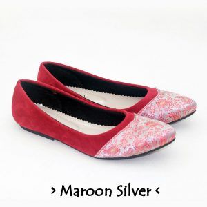 The Warna Shoes – Maroon Silver
