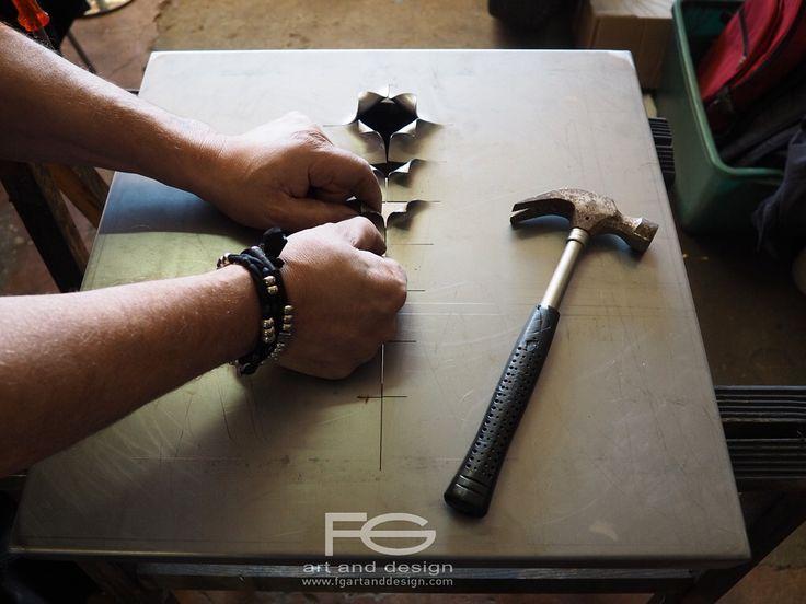 DREAMBOX Work in progress Size 50x50x5cm Etched iron https://instagram.com/p/-talb7osJm/
