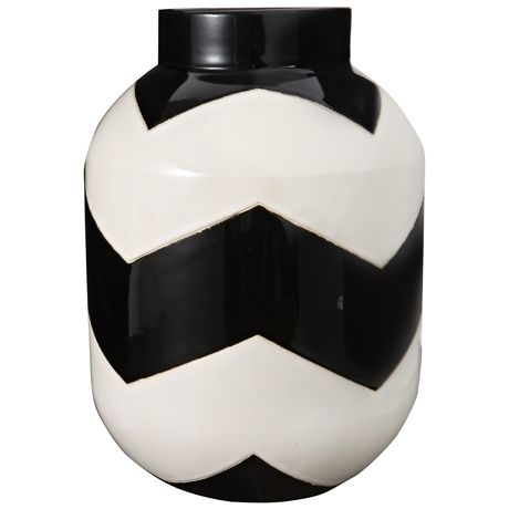 Chevron Vessel 30cm | Freedom Furniture and Homewares