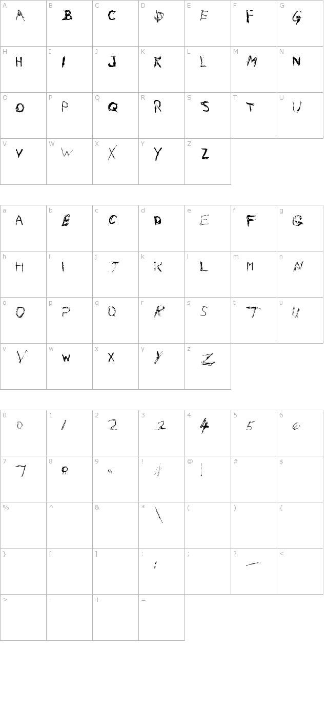 Nail Scratch - Free Font Download