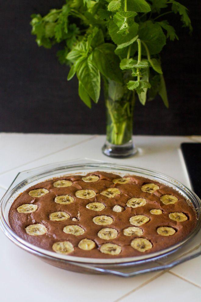 Gâteau rapide chocolat banane