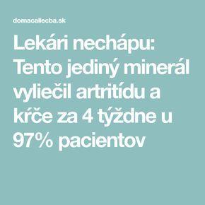 Lekári nechápu: Tento jediný minerál vyliečil artritídu a kŕče za 4 týždne u 97% pacientov