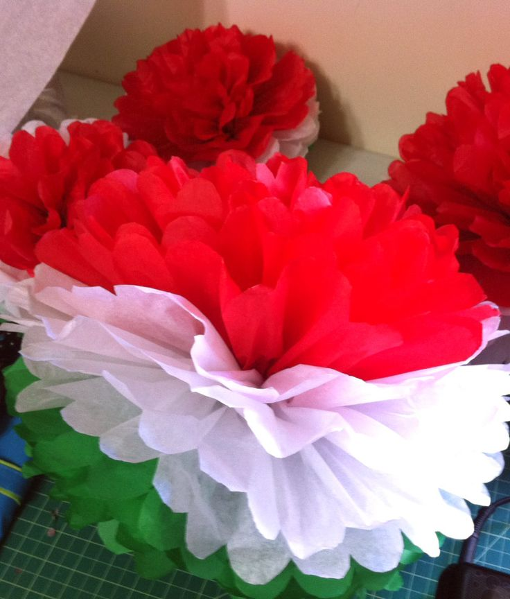 Mexican Party pom pom decoration/ Mexican Fiesta set of 5. Ft4,318.48 ($15.50,), via Etsy.