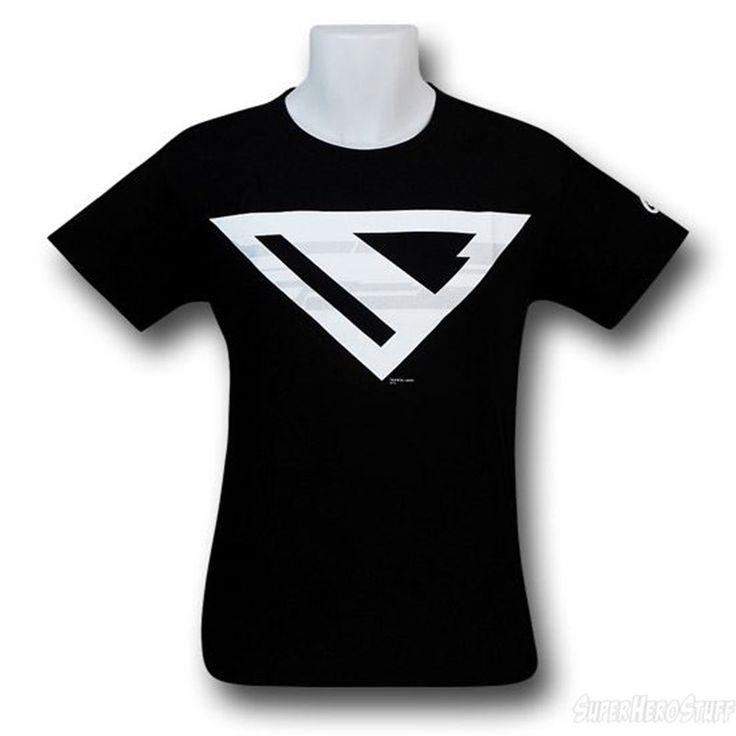 Images of Superman Beyond Symbol Black T-Shirt