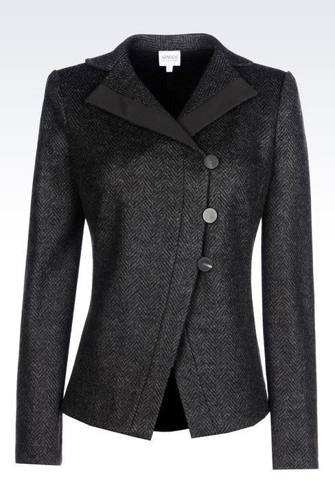 """Armani"" JACKET IN CHEVRON DESIGN JACQUARD WOOL BLEND - worn by Olivia Pope (Kerry Washington) on Scandal, season 4."