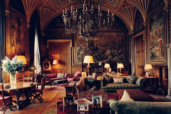 Eastnor Castle Near Wales, drawing room, classic, historic, photo by John Spinks, Wall Street Journal