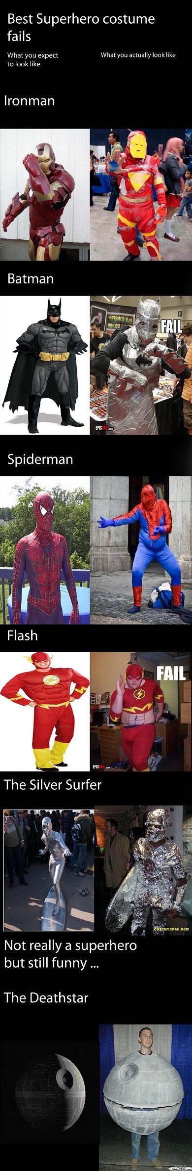 Super hero costume fails