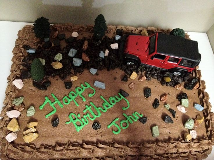 Jeep Birthday Cake
