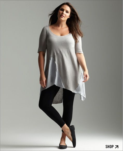 Trendy plus size fashion tops 57