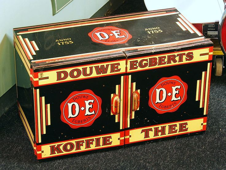 Douwe Egberts Koffie Thee [Coffee-Tea] Dutch package with red seal, Holland/The Netherlands
