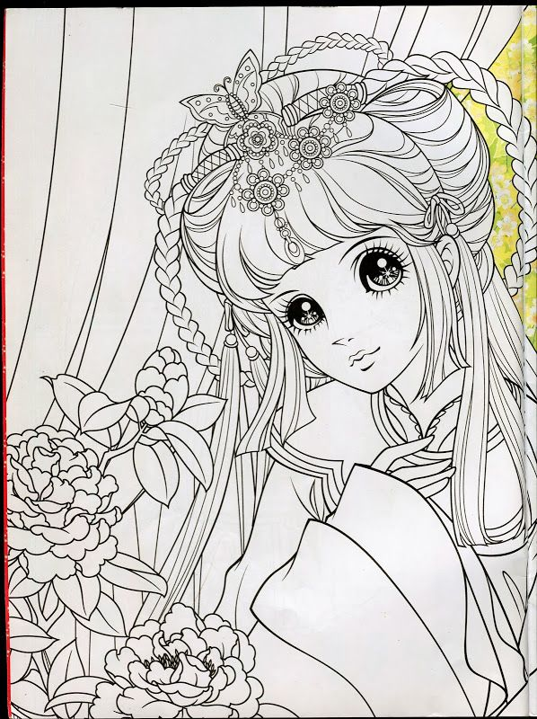 555 best images about coloring for adults on pinterest - Adult manga 2 ...