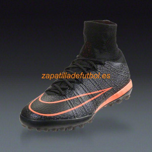 Botas de futbol Sala Nike Mercurial X Proximo Street TF Negro Blanco Brillante Mango