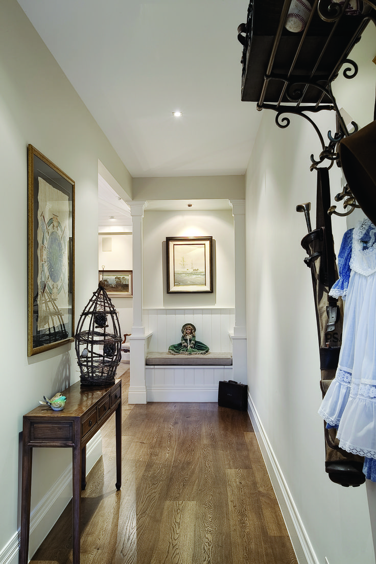 hallway design, architecture, white living, classic living, family living constructed by Classic Projects