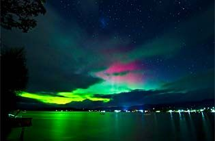 Southern Tasmania is a great place to see the Southern Lights. The further south you go, the less city light pollution so the better the Aurora display. This image, taken on the Huon River, by Xavier Hoenner was published in The Mercury newspaper 19 March 2013.