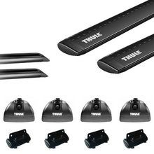 Thule Rapid Podium BLACK AeroBlade Roof Rack w/ Tracks for Camper Shell Applications