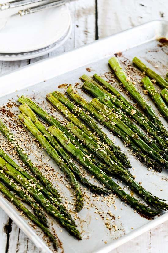 Roasted Asparagus with Soy-Sesame Glaze (Video)