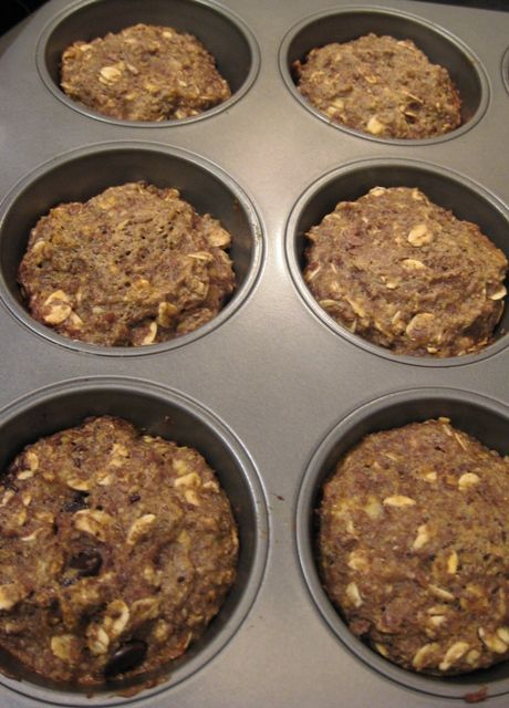 flax & oat breakfast power muffins: good work snack to keep the milk supply up