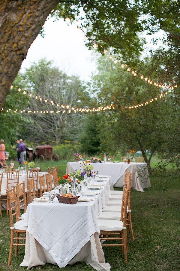 Wisconsin Backyard Wedding From Heather Cook Elliott Reception IdeasDiy