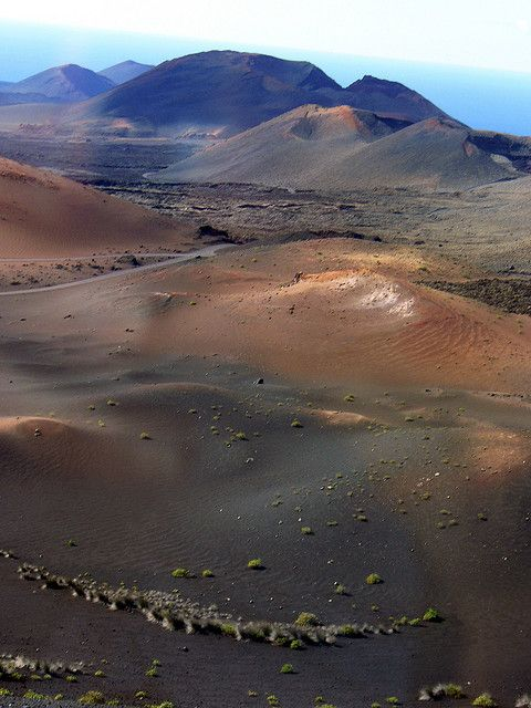 The multi-coloured volcanic desert of Timanfaya, Lanzarote