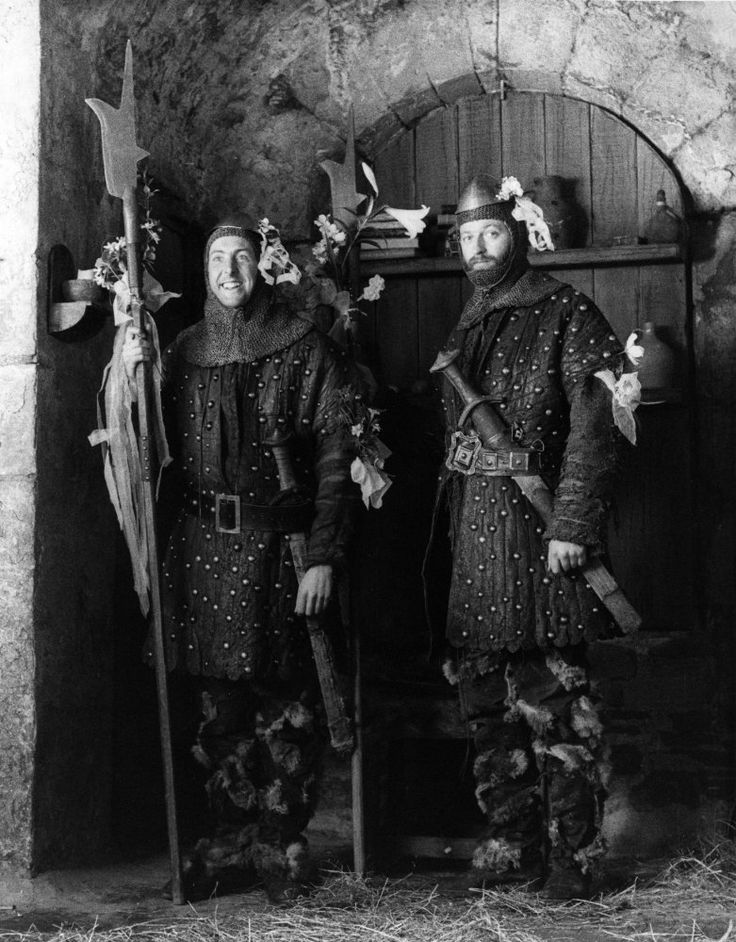 Eric Idle & Graham Chapman in #MontyPython and the Holy Grail (1975).