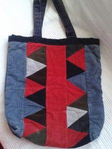 Kordbársony patchwork táska