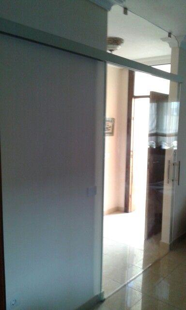 puerta de vidrio tenerife