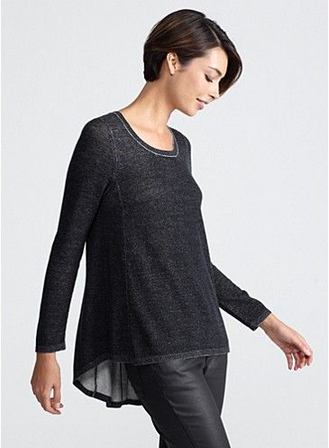 Fall 2013 Looks - EILEEN FISHER.  Side view.  Nice
