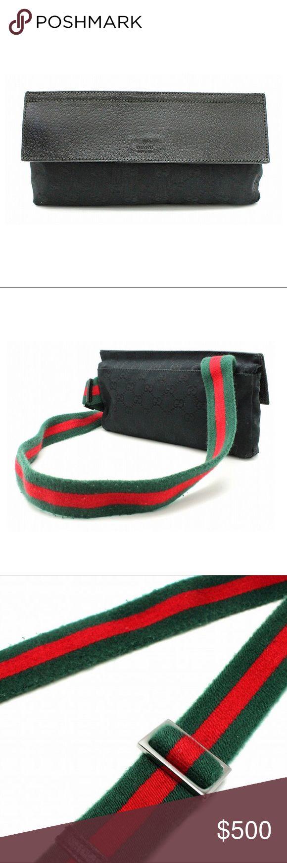 Authentic Gucci Signature Web Belt Bag/Waist Pouch Authentic Gucci Monogram GG Signature Web Belt Bag/Waist Pouch Serial No: 180691 213317 Made in Italy  Monogram GG Canvas, Leather Trim, Signature Web Belt Gucci Bags