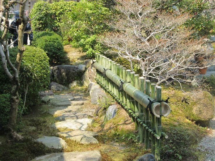 Japanese Bamboo Garden Design water fountain and japanese garden design ideas Backyard Bring Rustic Style With Garden Bamboo Fence In Simple Garden Green Garden Bamboo