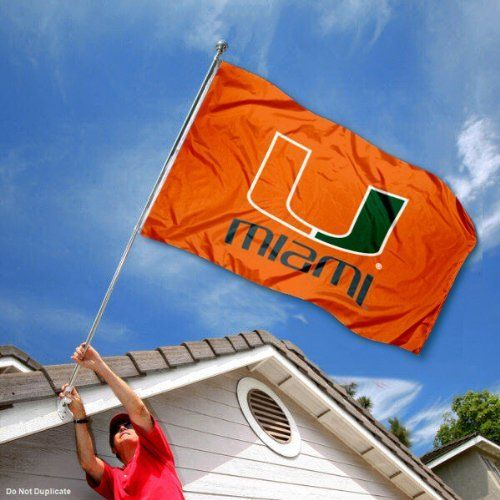 Miami Hurricanes UM Canes University Large College Flag by College Flags and Banners Co.. Save 25 Off!. $29.95. Made of Polyester with Quadruple-Stitched Flyends for Durability. Perfect for your Home Flagpole, Tailgating, or Wall Decoration. 3'x5' in Size with two Metal Grommets for attaching to your Flagpole. Officially Licensed and Approved by University of Miami. College Logos viewable on Both Sides (Opposite side is a reverse image). Our Miami Hurricanes Flag measures 3x5 feet...