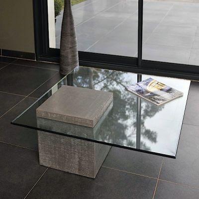 La table basse B-A-TABLE, un monolithe de béton et de verre - déco et design