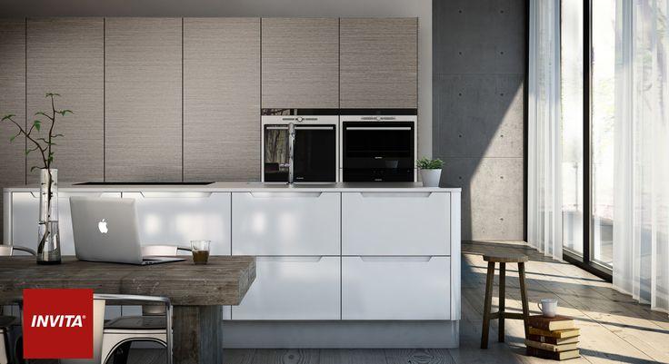 Urbans minimalistiske design kan bruges i hele køkkenet eller kombineres med andre låger og materialer, f.eks. den smukke Grey Nature i bæredygtigt birketræ.