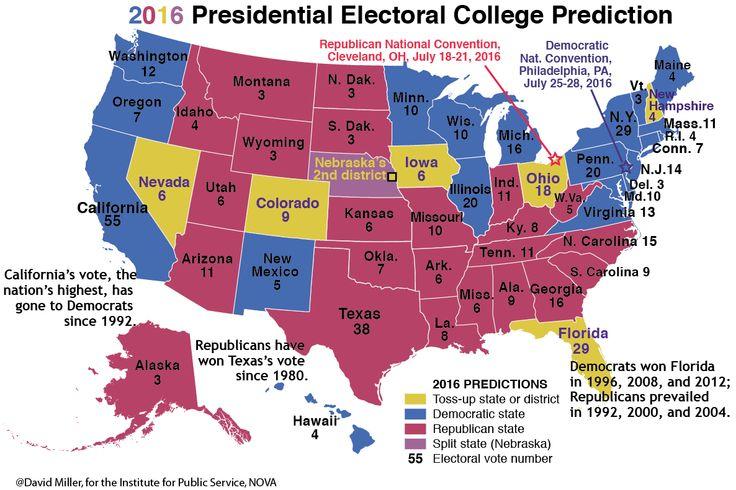 electoral college map 2016 - Google Search