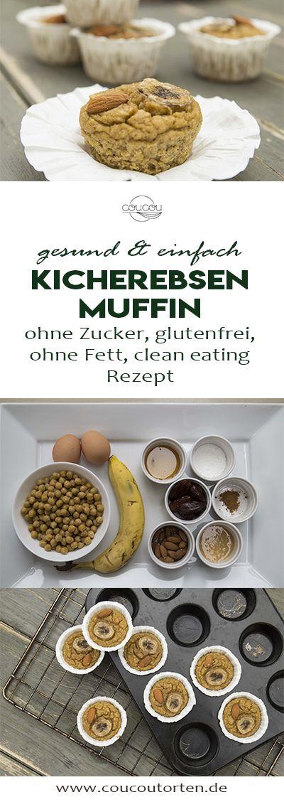 Das gesunde und einfach Rezept für Kichererbsen Muffins, welche ohne Zucker, we…